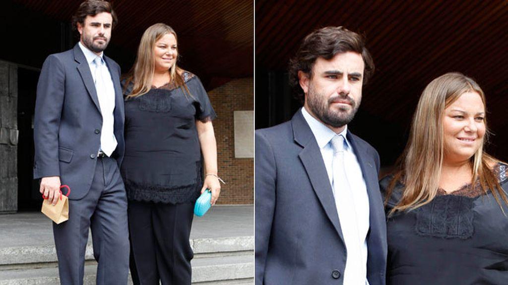 Caritina Goyanes con su esposo, Antonio Matos