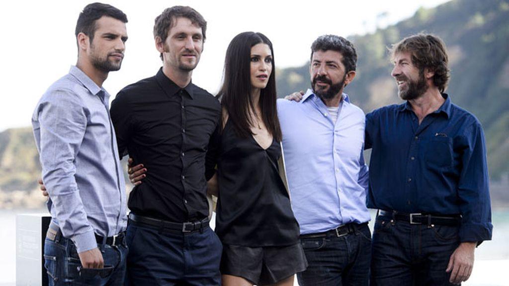 Es el momento de Jesús Castro, 'El niño', y ya posa con otros grandes del cine español