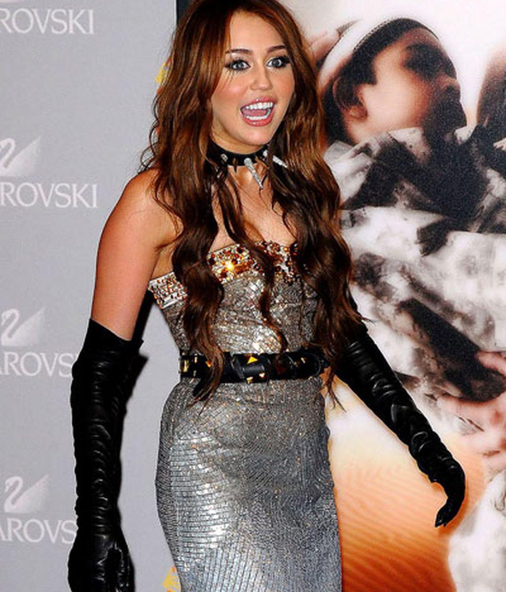 """Miley Cyrus, en un acto de presentación de """" Sexo en Nueva York 2"""""""