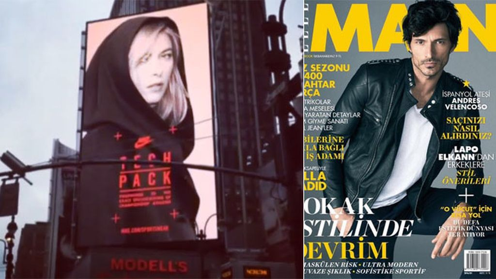Protagonistas de portadas y modelos de publicidad