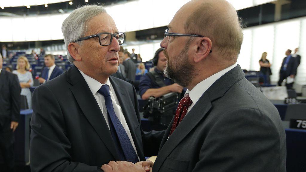 Jean Claude Juncker y Martin Schultz analizan las cifras de refugiados que deben acoger los países de la UE