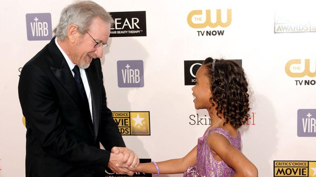 La pequeña Quvenzhané Wallis, futura gran estrella de Hollywood