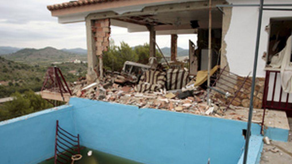 Imagen del lugar de la explosión. Foto: EFE.