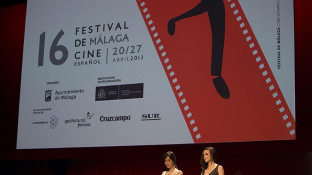 Verónica Sánchez y Aura Garrido en la gala inaugural