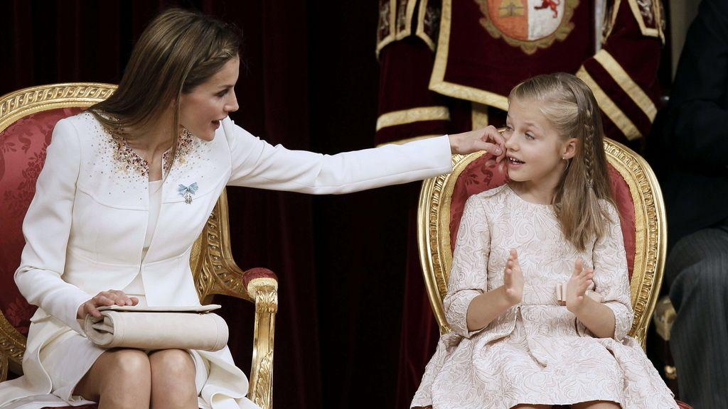 La reina Letizia y la Princesa de Asturias