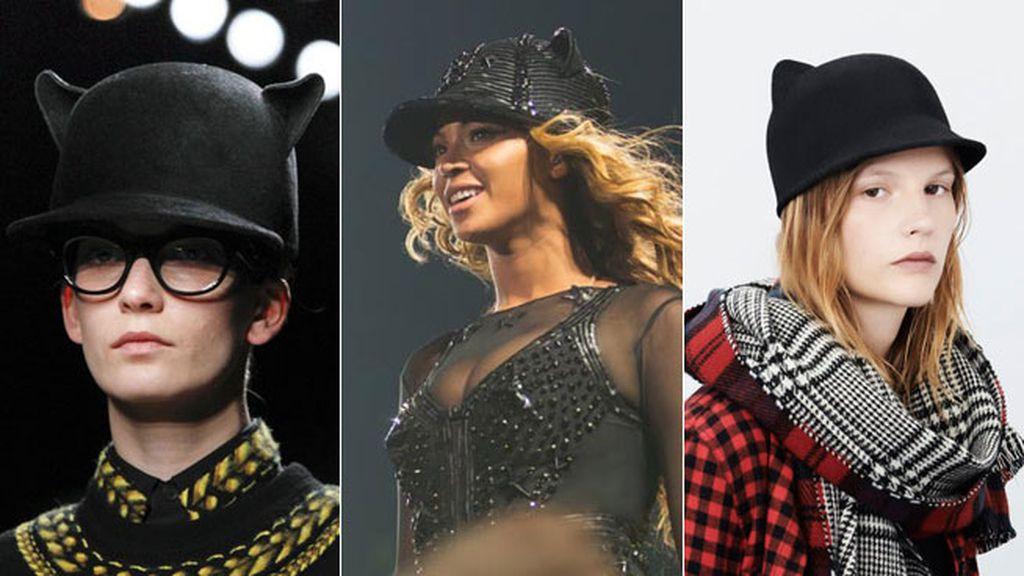Beyoncé Knowles con sombrero de Givenchy