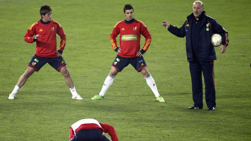 La selección española prepara el amistoso de Viena