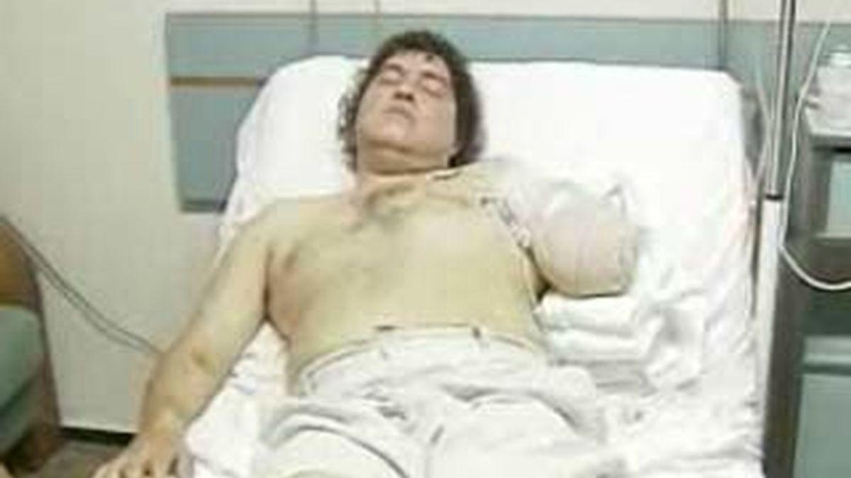 Franns Rilles Melgar en el hospital valenciano en el que permanece ingresado.  Vídeo: Informativos Telecinco