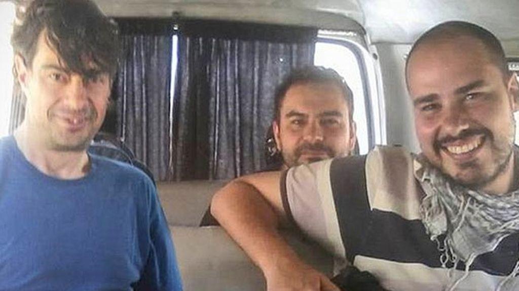 Liberados los tres periodistas secuestrados en Siria