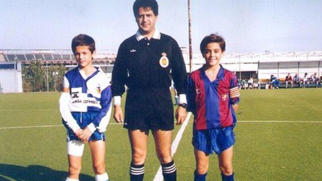 Xavi ya ejercía de capitán cuando era niño