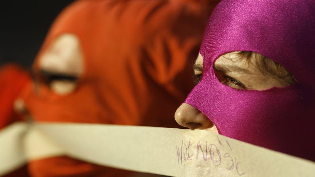 Protesta por las Pussy Riot. Foto: Reuters