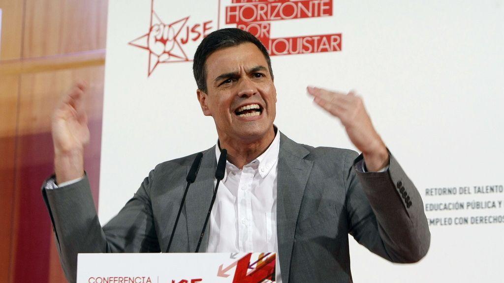 Pedro Sánchez durante un acto en Alicante