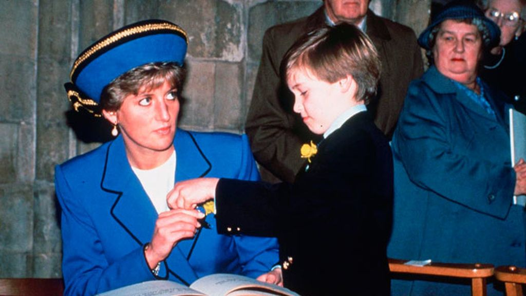 Cuando el Príncipe Guillermo era niño