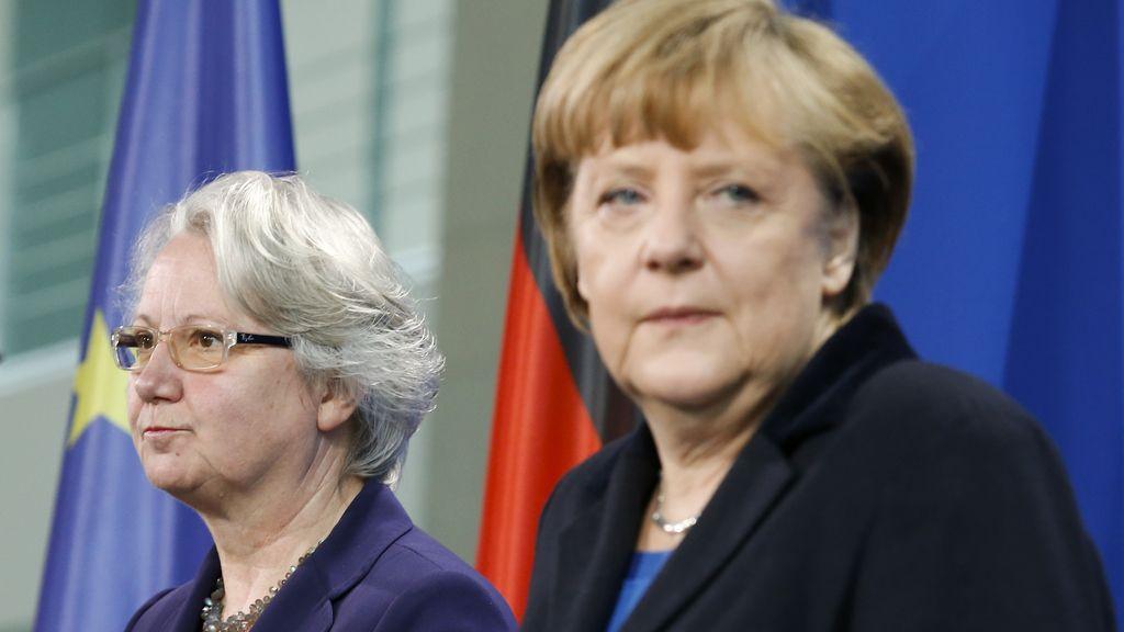Angela Merkel y Annette Schavan