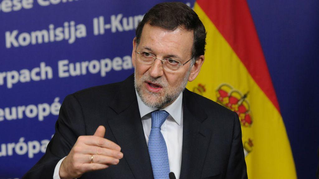 Mariano Rajoy durante la rueda de prensa posterior al Consejo