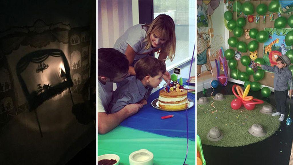 Lucas celebró sus cuatro años en plena 'selva'