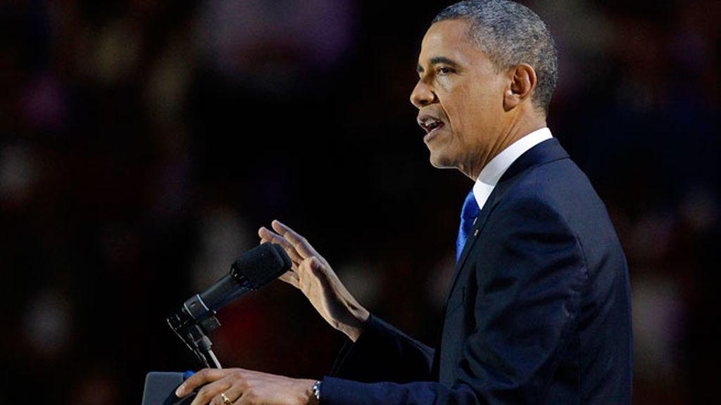 Obama da su primer discurso como presidente reelegido