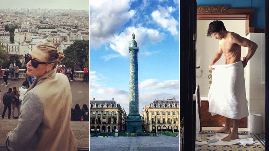 Juntos en París: ella en el Sacre Coeur, él ha fotografiado la Place de la Vendome