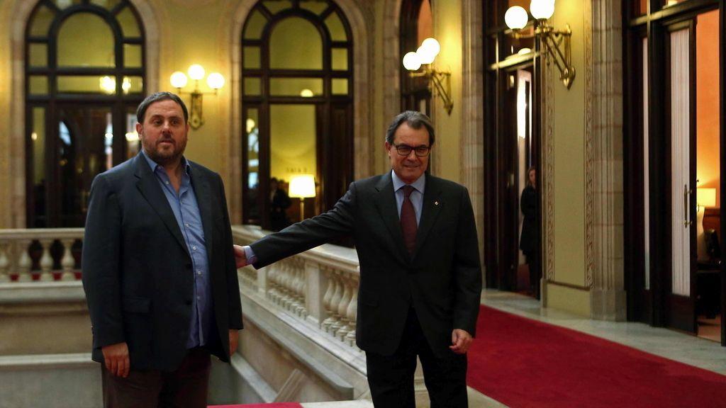 Mas inicia la ronda de contacto con los partidos proconsulta con ERC