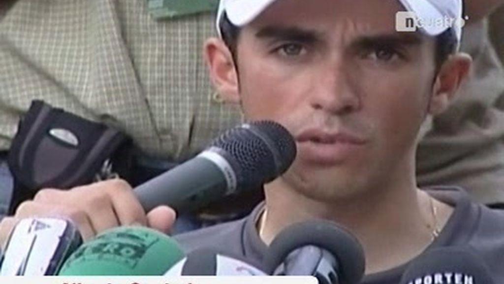 Declaraciones de Alberto Contador sobre el mal ambiente que vive el equipo Astana