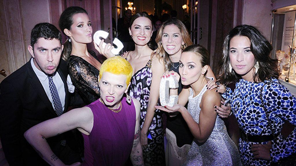 Los premiados dispuestos a celebrar por todo lo alto su triunfo en los salones del Ritz