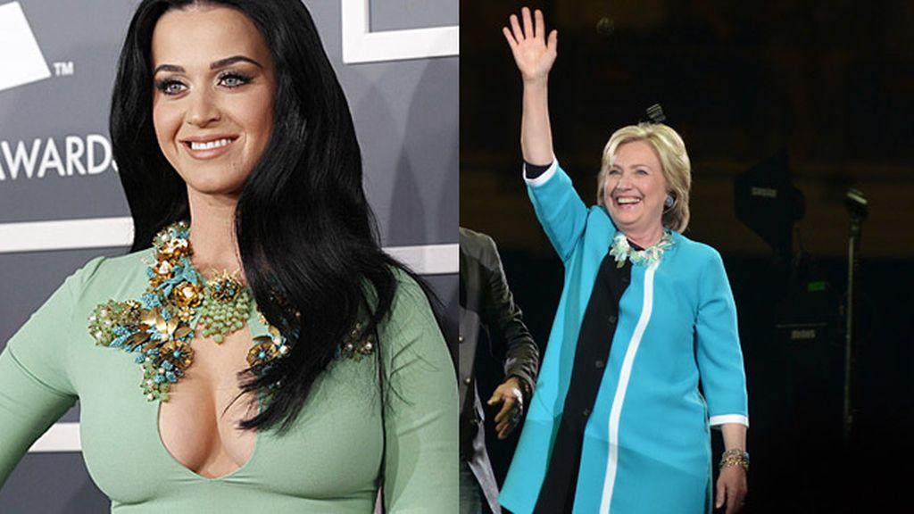 Katy Perry le muestra su apoyo a Hillary Clinton