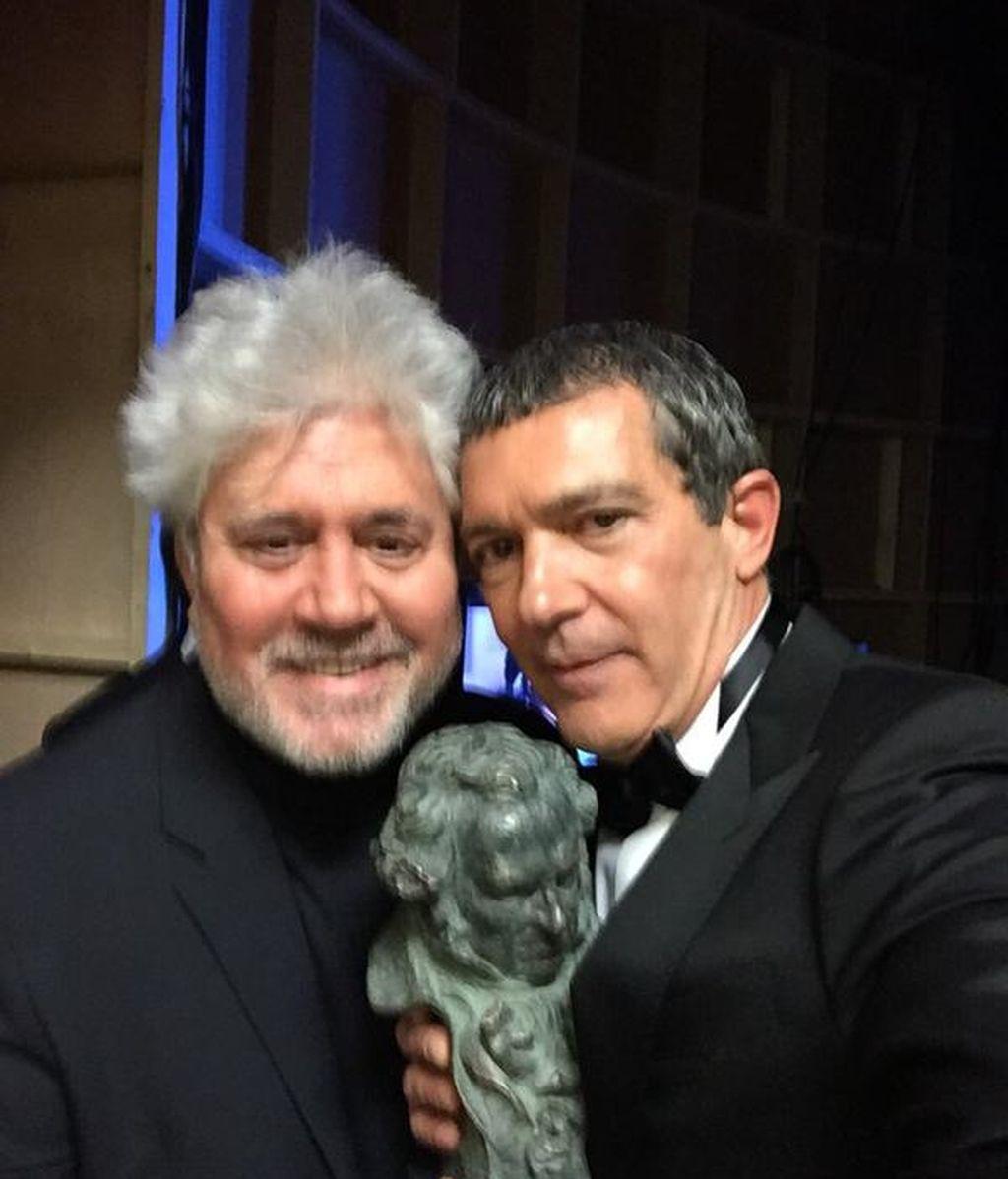 Pedro Almodóvar y Antonio Banderas