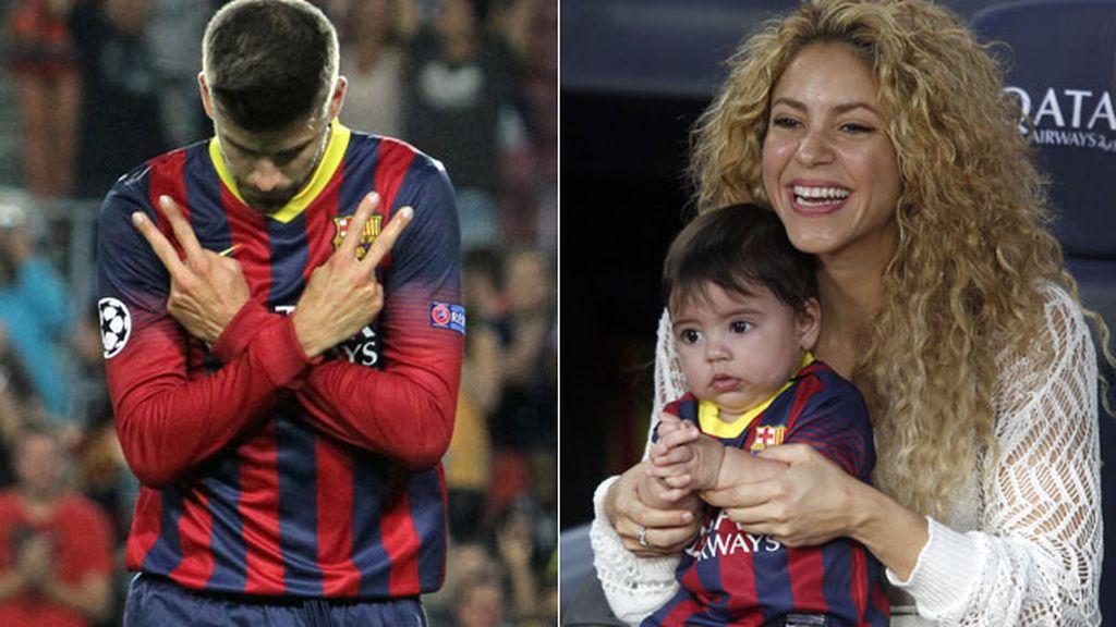 Shakira y Piqué, muestras de amor en el campo de juego