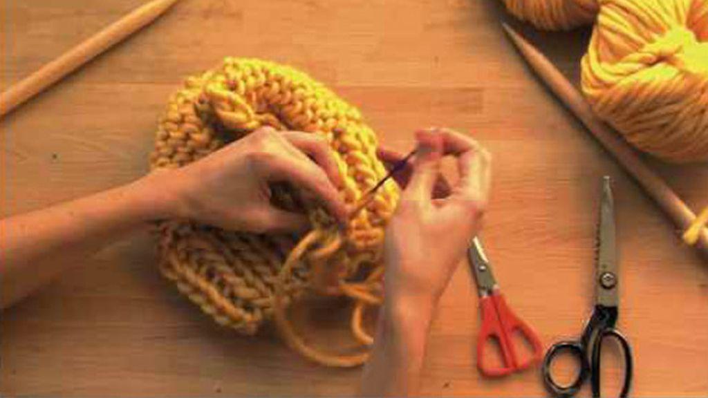 Capítulo 9 de Tricotosas: Gorro de lana gruesa