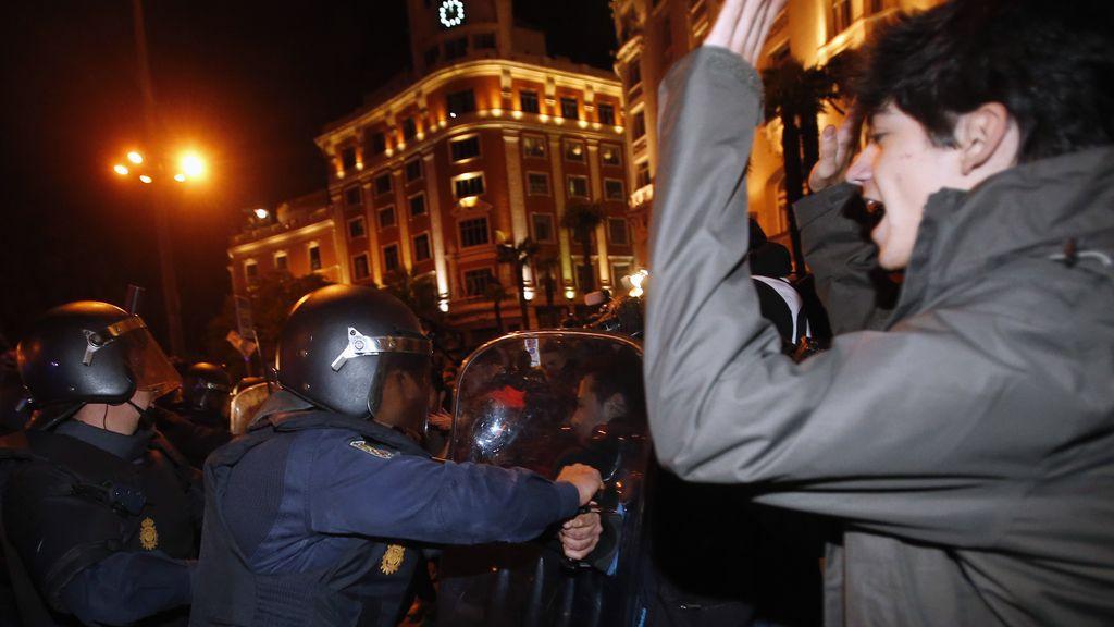 Manifestación frente al Congreso de los diputados el 29S, 29 de septiembre. Foto: Reuters