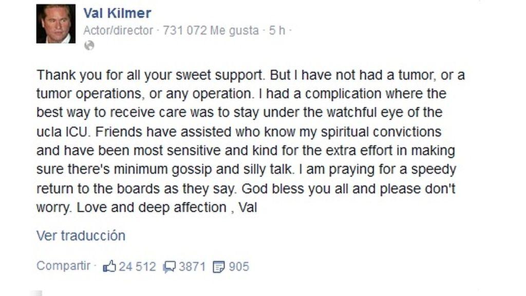 Val Kilmer en Facebook