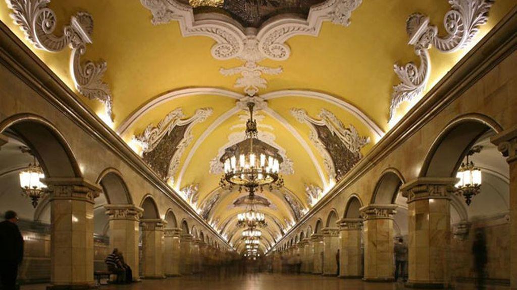 Estación de Park Pobedy, Moscú, Rusia