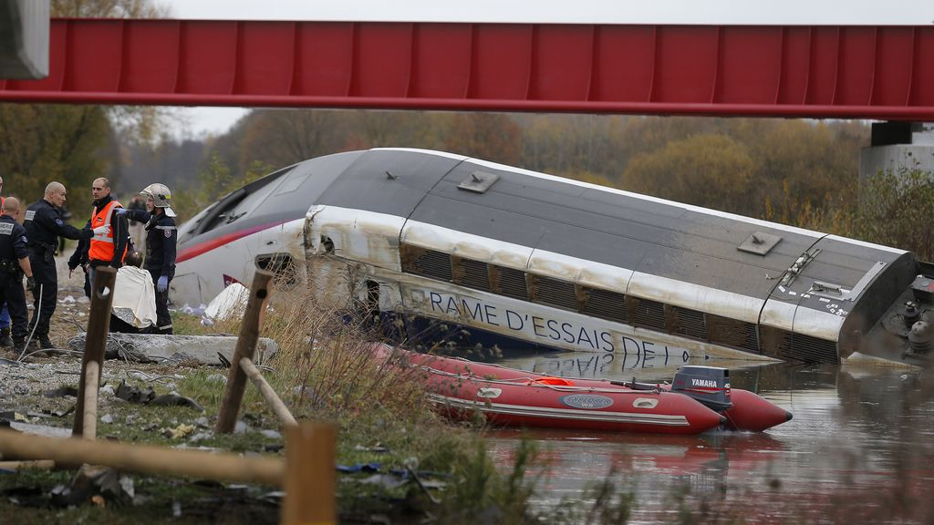 Accidente de tren en Francia