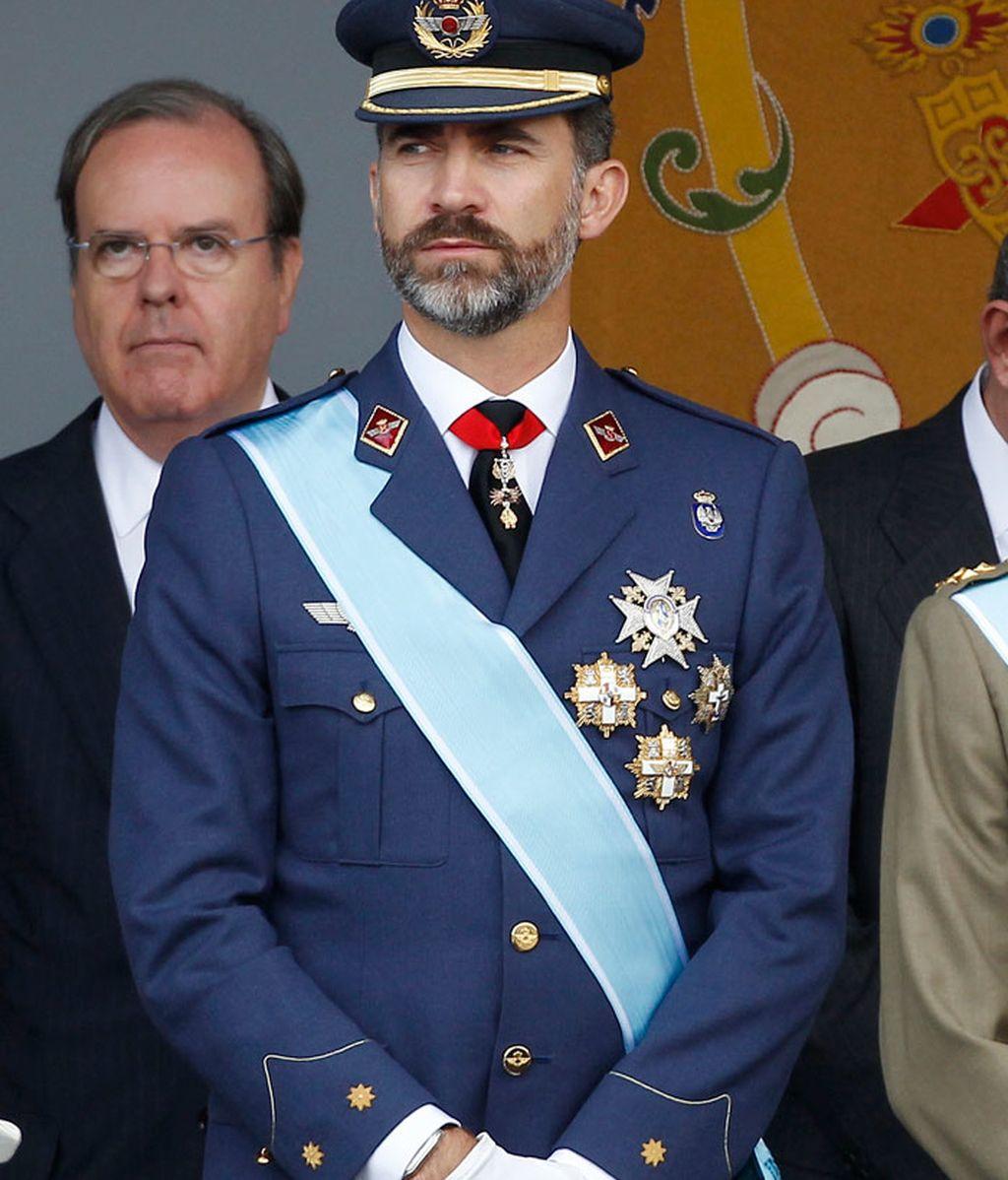 El príncipe Felipe durante el desfile militar