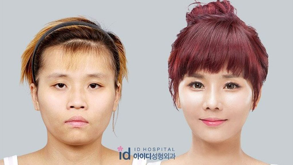 Un programa coreano transforma el aspecto de una chica