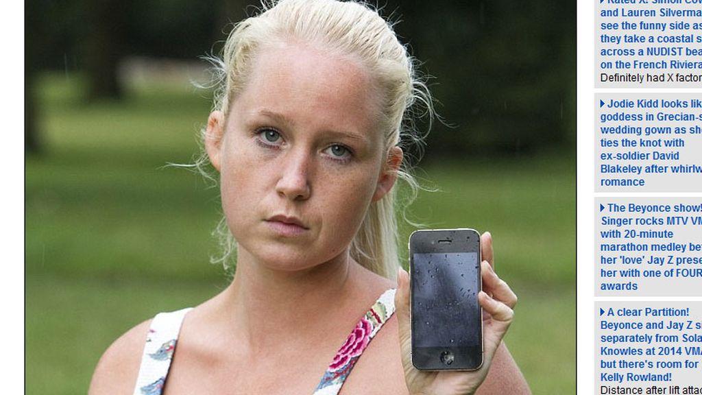 quemaduras,iPhone,mujer quemada,Dionne Baxter,smartphone prende fuego