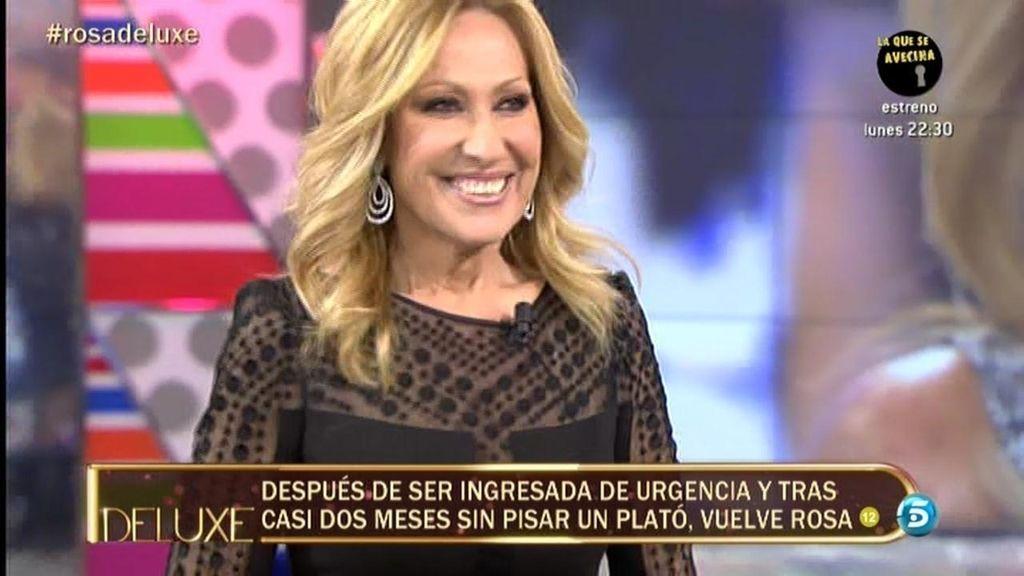 El regreso a la televisión de Rosa Benito