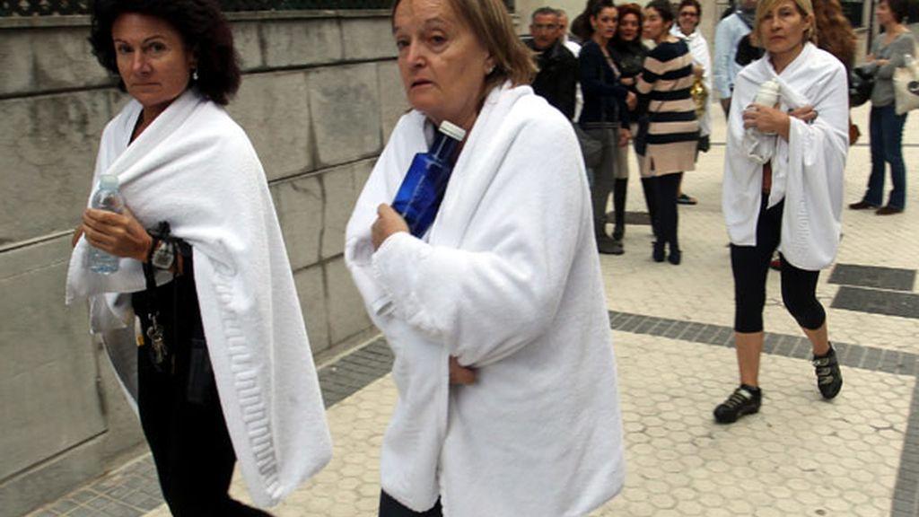 Varios clientes de un spa de San Sebastián desalojados por un escape