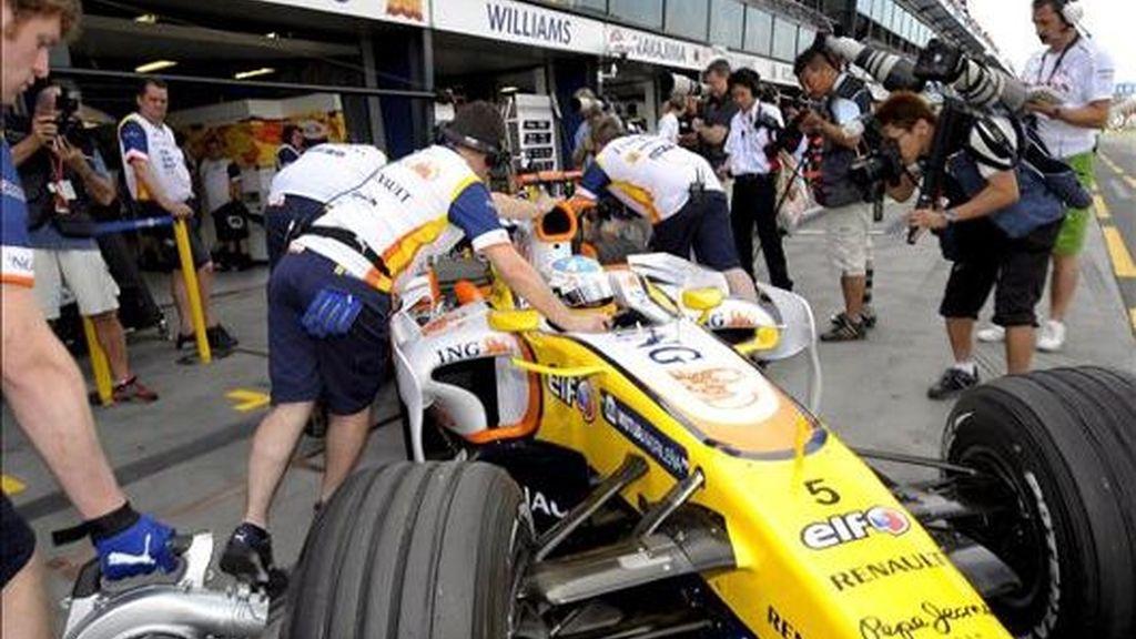 Alonso no se pudo clasificar para la Q3