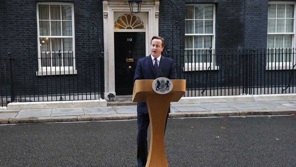 David Cameron comparece en Downing Street