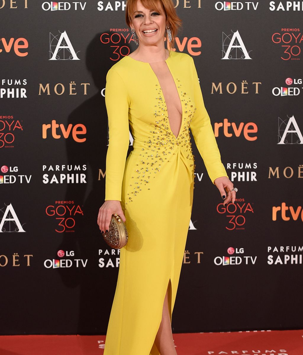 Maria Adanez con vestido de Uel Camilo