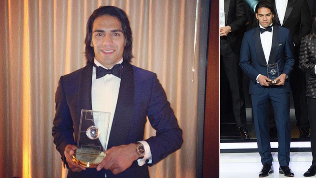 Falcao, único jugador del Atlético de Madrid en el 11 de la FIFA, acudió solo
