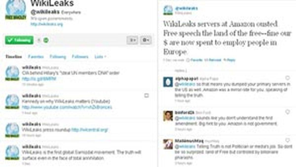 Página de WikiLeaks en Twitter