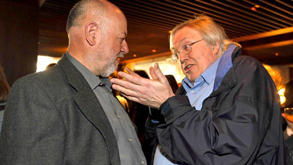 Paul Preston y Juan Eslava Galán durante el almuerzo del Día de Sant Jordi
