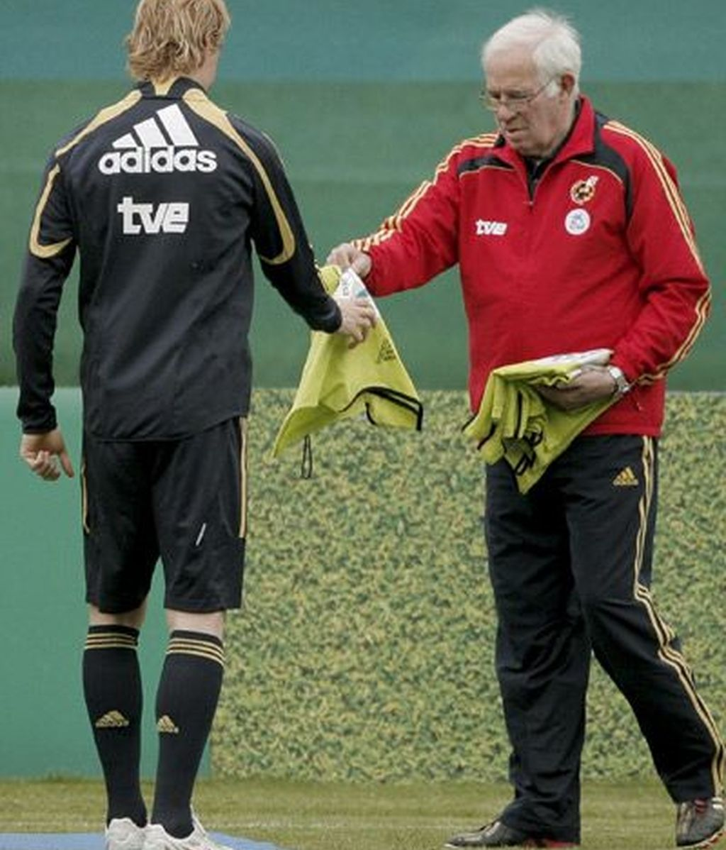 Luis Aragonés y Fernando Torres