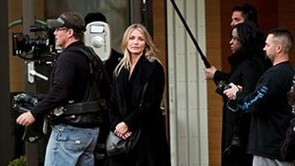 Camero Díaz, en un momento del rodaje de la película en Salzsburgo. Foto: EFE