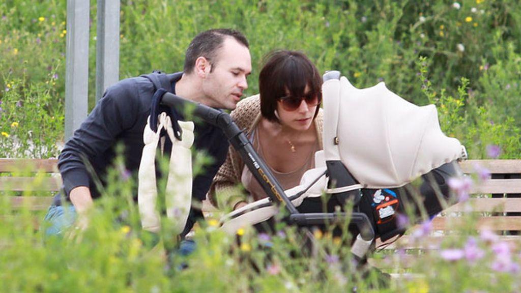 Anna Ortiz e Iniesta fuero padre el 3 de abril de 2011