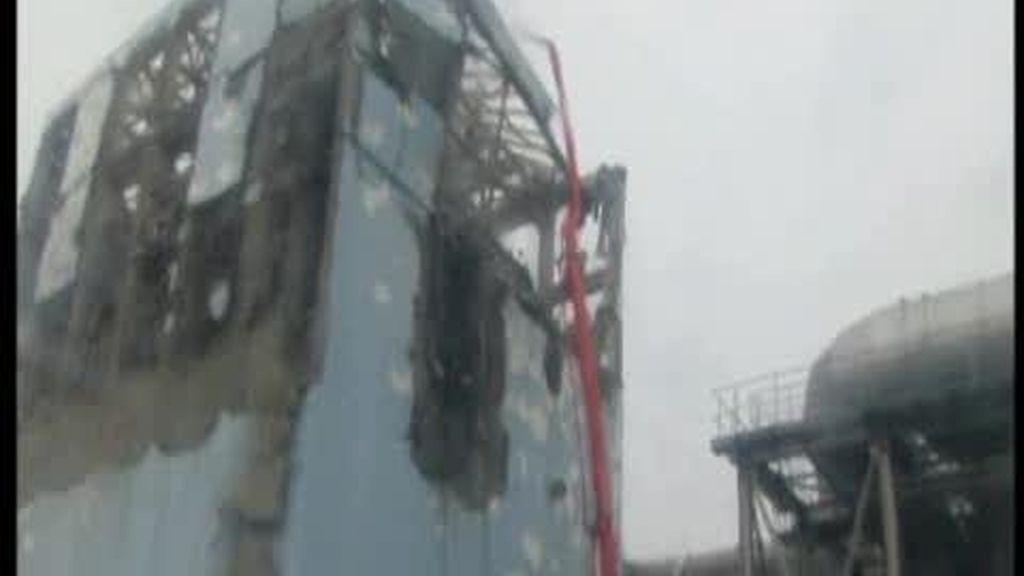 Enfriando la central de Fukushima
