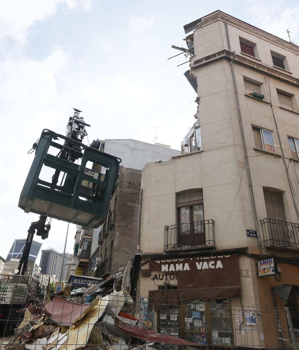 El edificio de la calle Amalia en Madrid, el segundo que se derrumba en la ciudad den 15 días