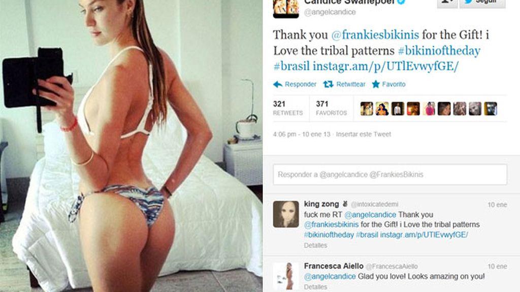 Candice Swanepoel luciendo un bikini muy atrevido